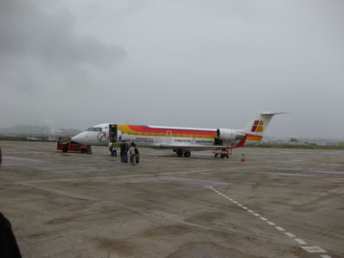 plane from santander to barcelona